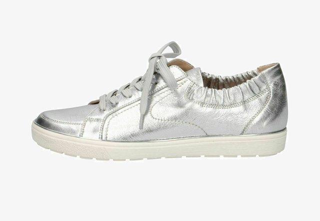 Sneakers laag - silver metal