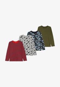 Zalando Essentials Kids - 4 PACK - Langærmede T-shirts - light grey melange/red - 5