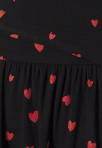 Anna Field MAMA - NURSING dress - Žerzejové šaty - black/red - 2