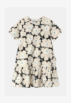 IHAILLA MINI UNIKOT - Jersey dress - black/beige/light green