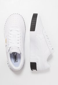 Puma - CALI - Sneakersy niskie - white/black - 3