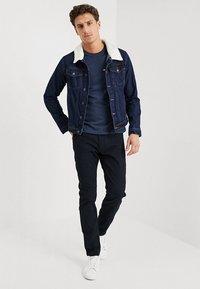 Pier One - T-shirt basic - mottled dark blue - 1