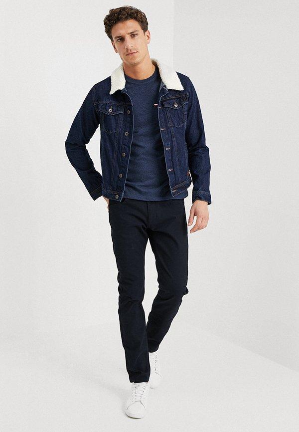 Pier One T-shirt basic - mottled dark blue/granatowy melanż Odzież Męska HZDQ