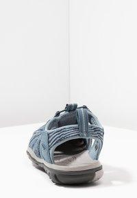 Keen - CLEARWATER CNX - Walking sandals - blue mirage/citadel - 3