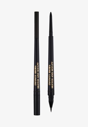 INFINITY POWER BROWS - SKETCH AND SCULPT LIQUID LINER & PENCIL - Eyebrow pencil - almost black