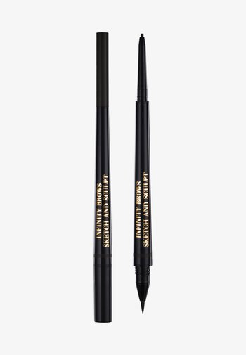 INFINITY POWER BROWS - SKETCH AND SCULPT LIQUID LINER & PENCIL - Eyebrow pencil - almost black