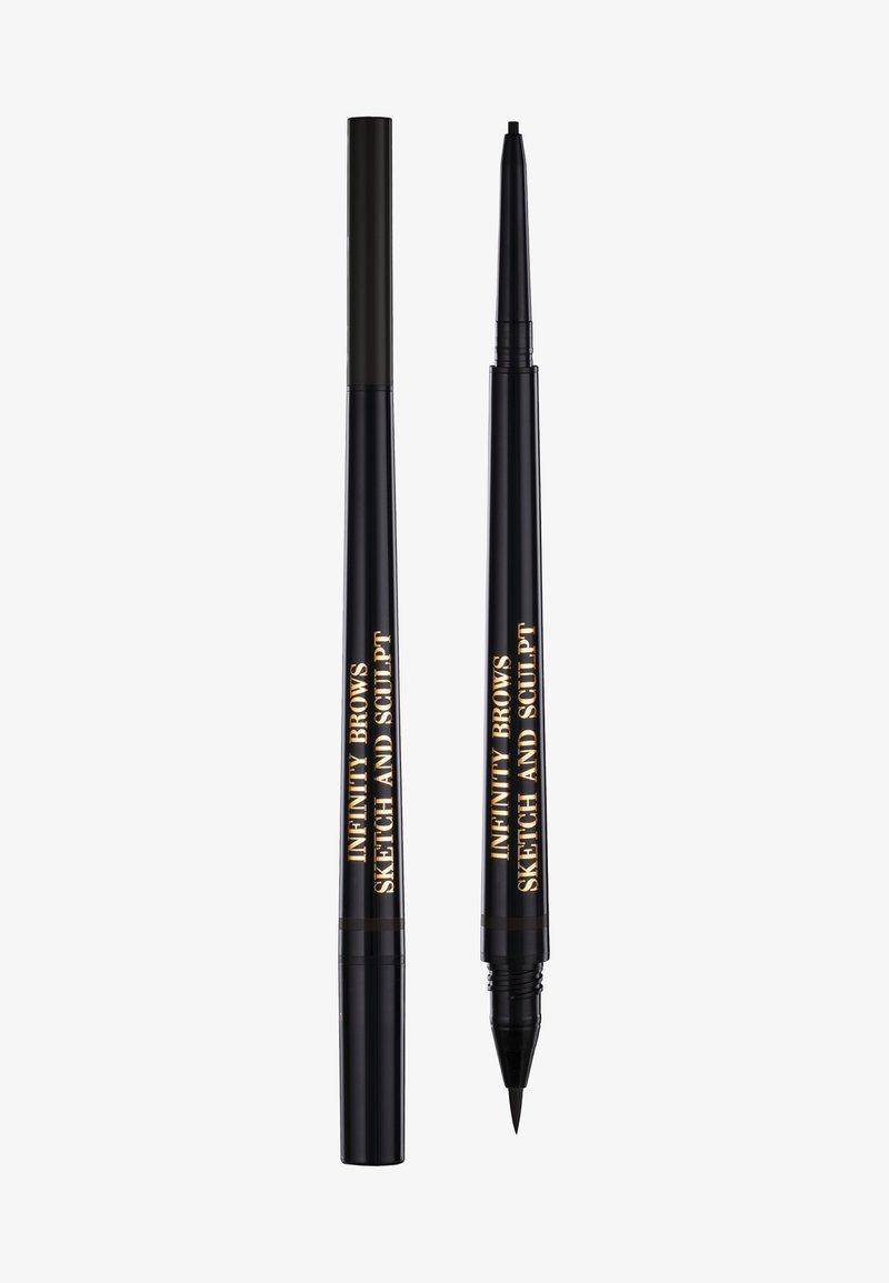 LH cosmetics - INFINITY POWER BROWS - SKETCH AND SCULPT LIQUID LINER & PENCIL - Eyebrow pencil - almost black