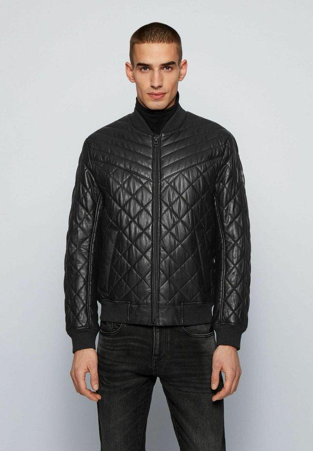 JECEY - Leather jacket - black