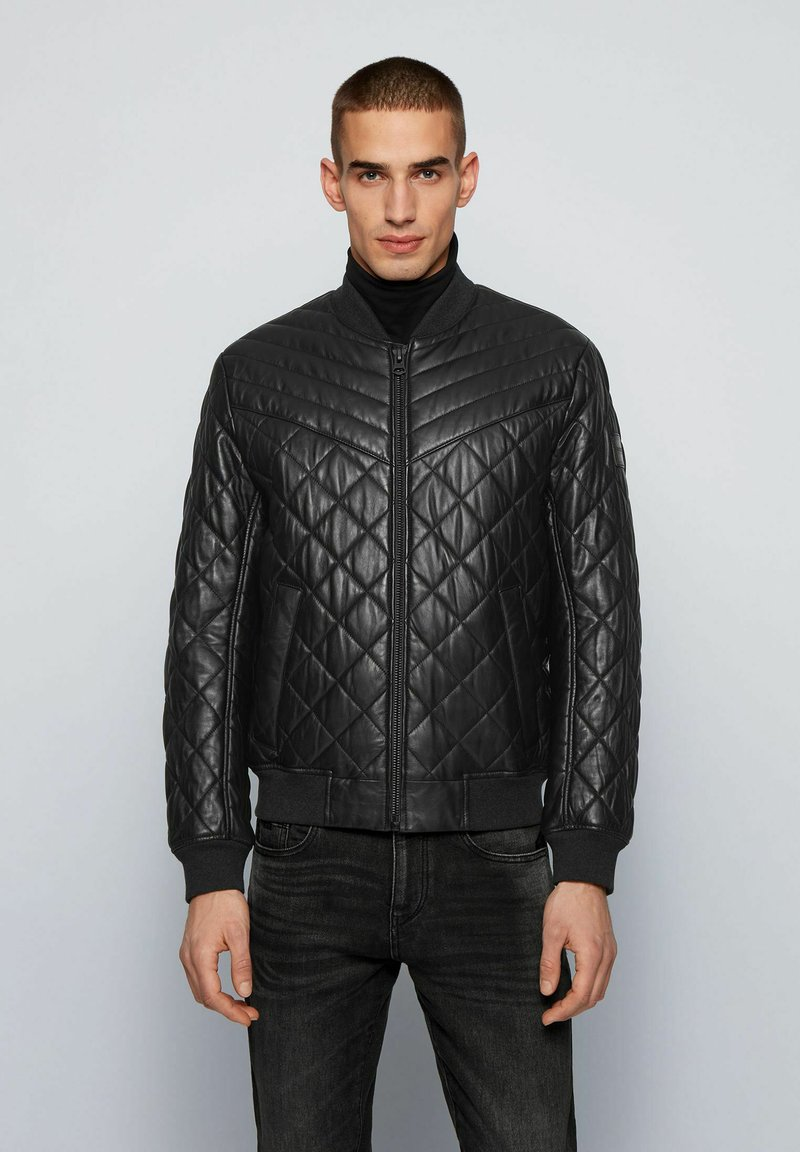 BOSS - JECEY - Leather jacket - black