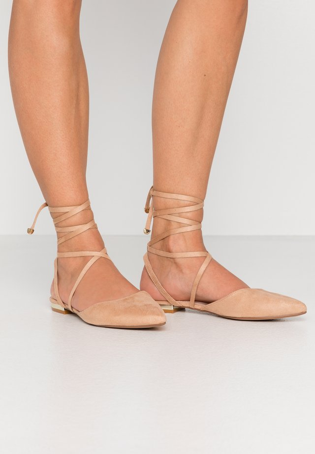 RUBIE - Ankle strap ballet pumps - nude