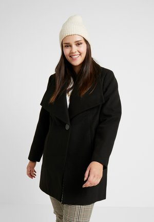 LARGE COLLAR COAT - Short coat - black