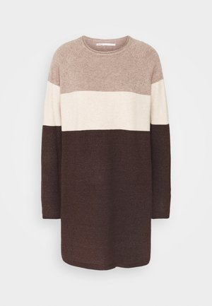 ONLLILLO DRESS - Strikket kjole - woodsmoke/oatmeal mel/chicory coffe