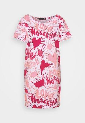 Jersey dress - all splash rosa