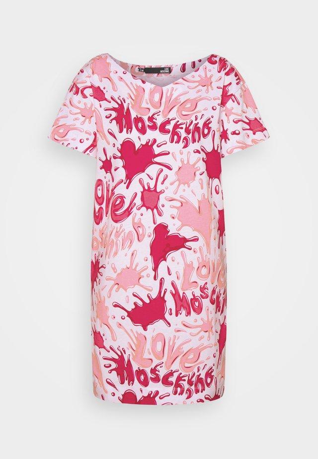 Jerseyjurk - all splash rosa