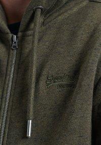 Superdry - ORANGE LABEL - Zip-up hoodie - winter khaki grit - 2