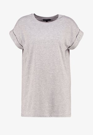 ALVA PLAIN TEE - T-shirts - light grey melange