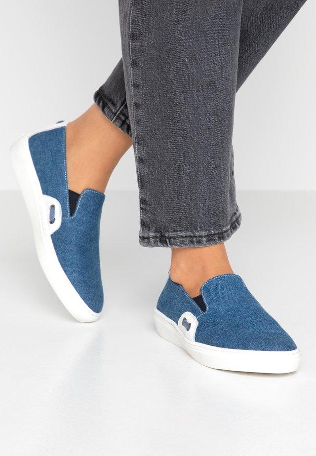 Slip-ons - blue denim