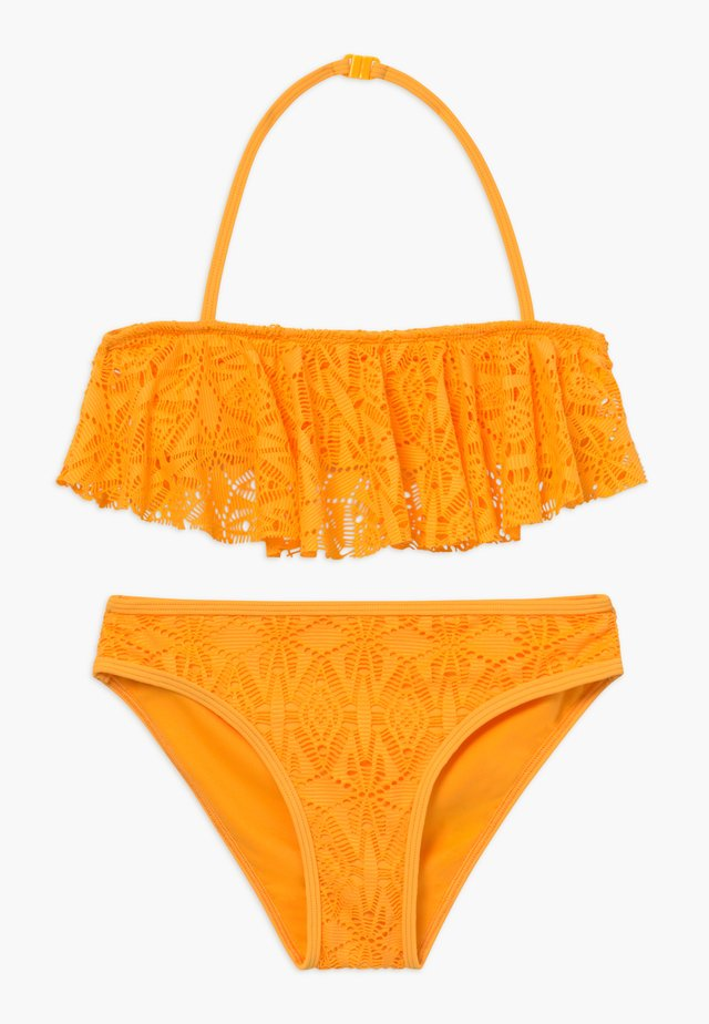 LACE FRILL CROP SET - Bikini - yellow