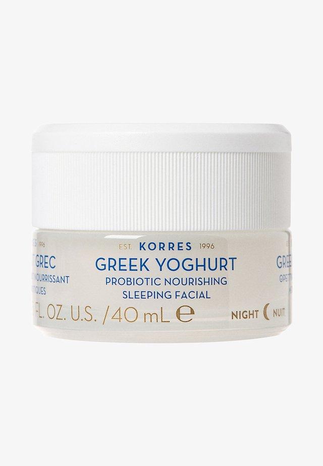 GREEK YOGHURT PROBIOTIC NOURISHING SLEEPING FACIAL - Pielęgnacja na noc - -