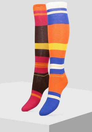 IM DOPPELPACK - Over-the-knee socks - multi-coloured