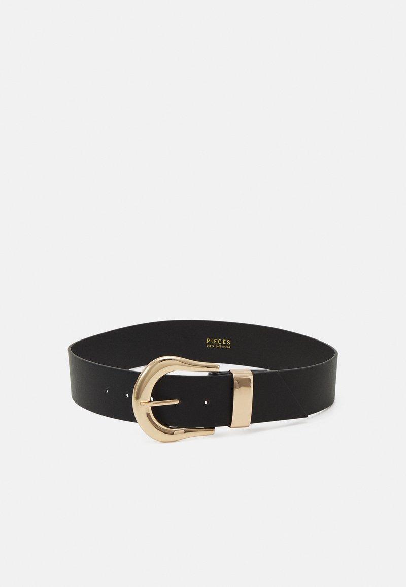 Pieces - PCGABRIELLA WAIST BELT - Belt - black/gold-coloured