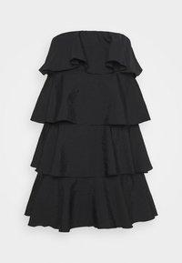 TIERED MINI DRESS - Vestito elegante - black
