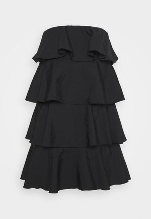 TIERED MINI DRESS - Koktejlové šaty / šaty na párty - black
