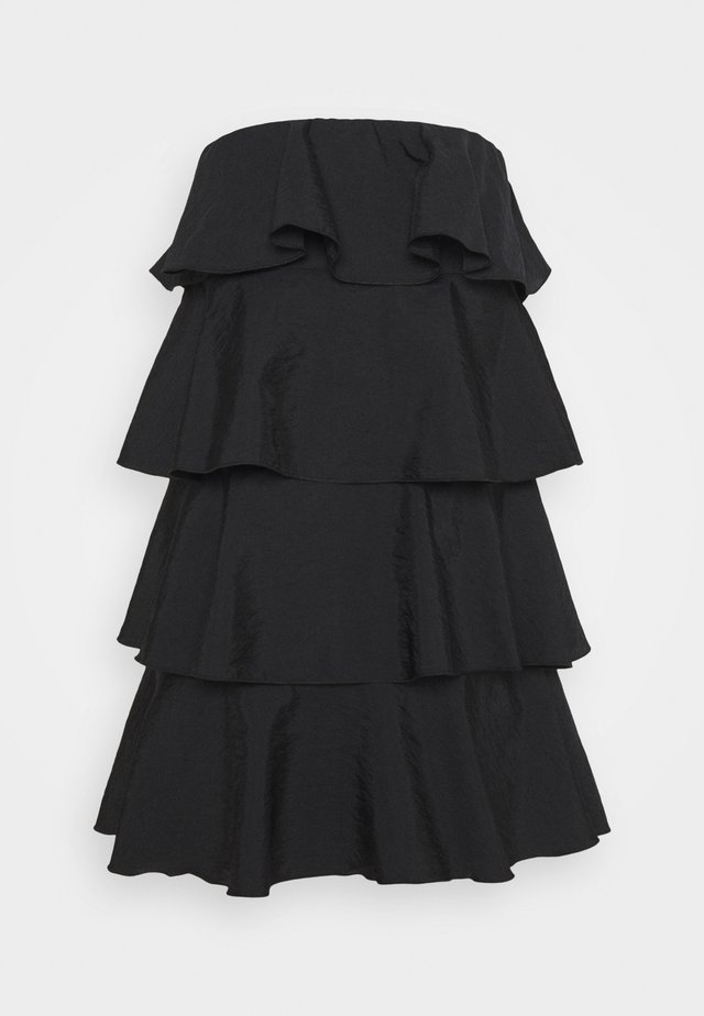 TIERED MINI DRESS - Cocktail dress / Party dress - black