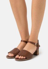 Geox - SOZY MID  - Sandals - brown - 0
