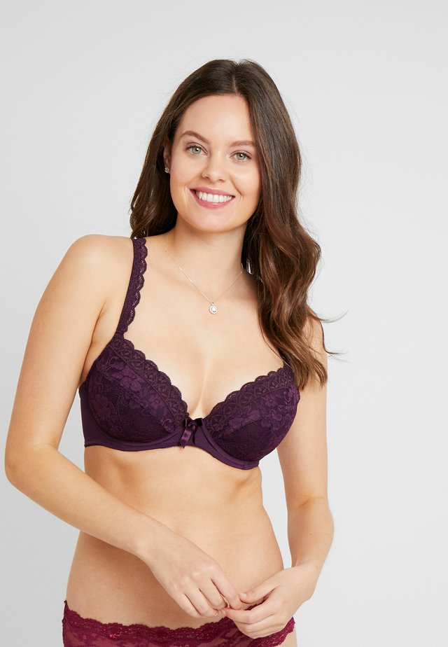 REBEL PADDED PLUNGE BRA - Reggiseno push-up - blackberry