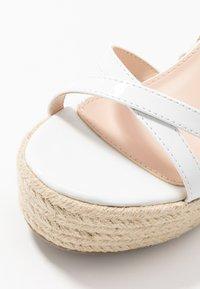 BEBO - FARRAH - Sandaler med høye hæler - white - 2