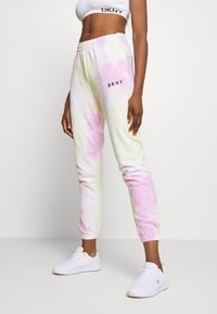 DKNY - TIE DYE CROPPED - Tracksuit bottoms - multi-coloured - 0