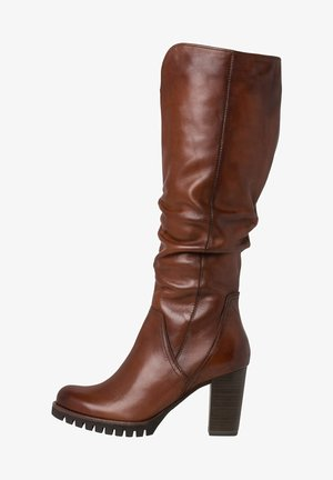 STIEFEL - High heeled boots - cognac antic