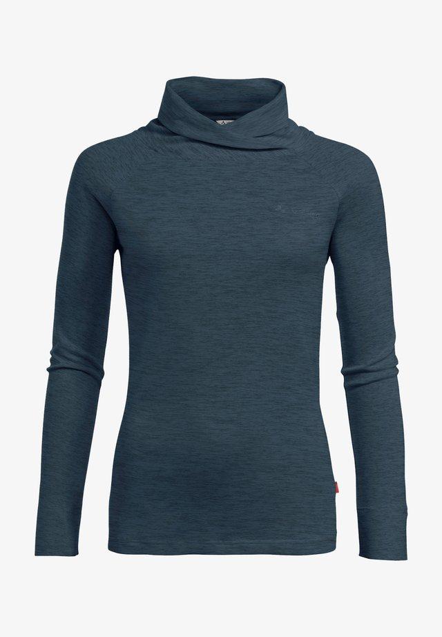 Long sleeved top - steelblue