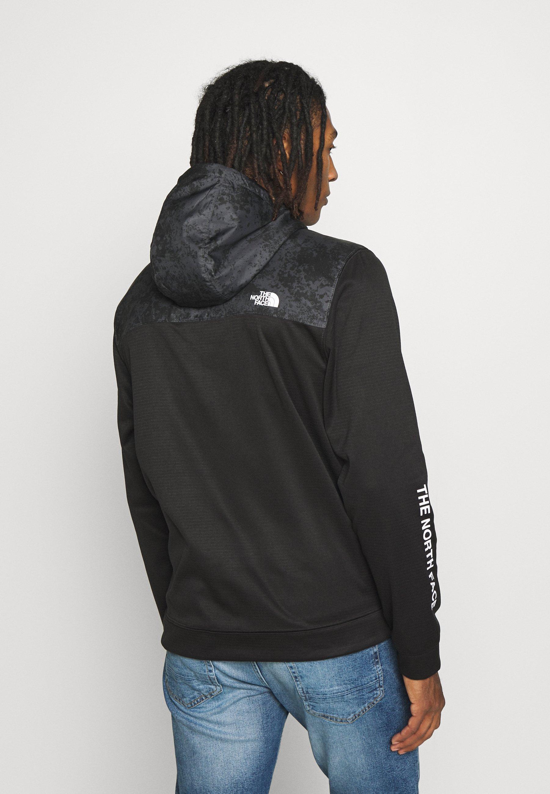 The North Face TRAIN LOGO ZIP - Sweatshirts - black/asphalt grey