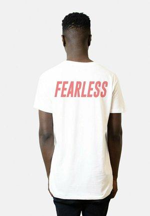 FEARLESS BACK  - T-shirt print - white
