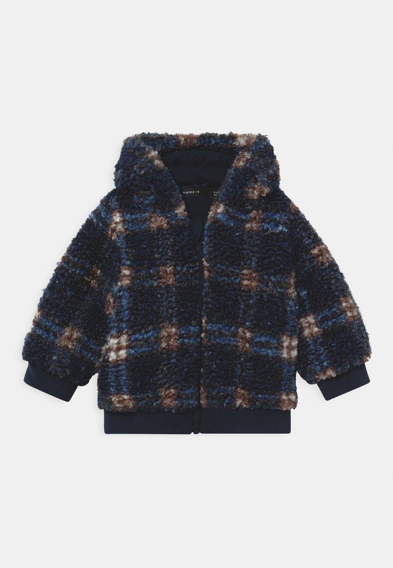 Name it - NBMMAZIE CHECK UNISEX - Winter jacket - dark sapphire