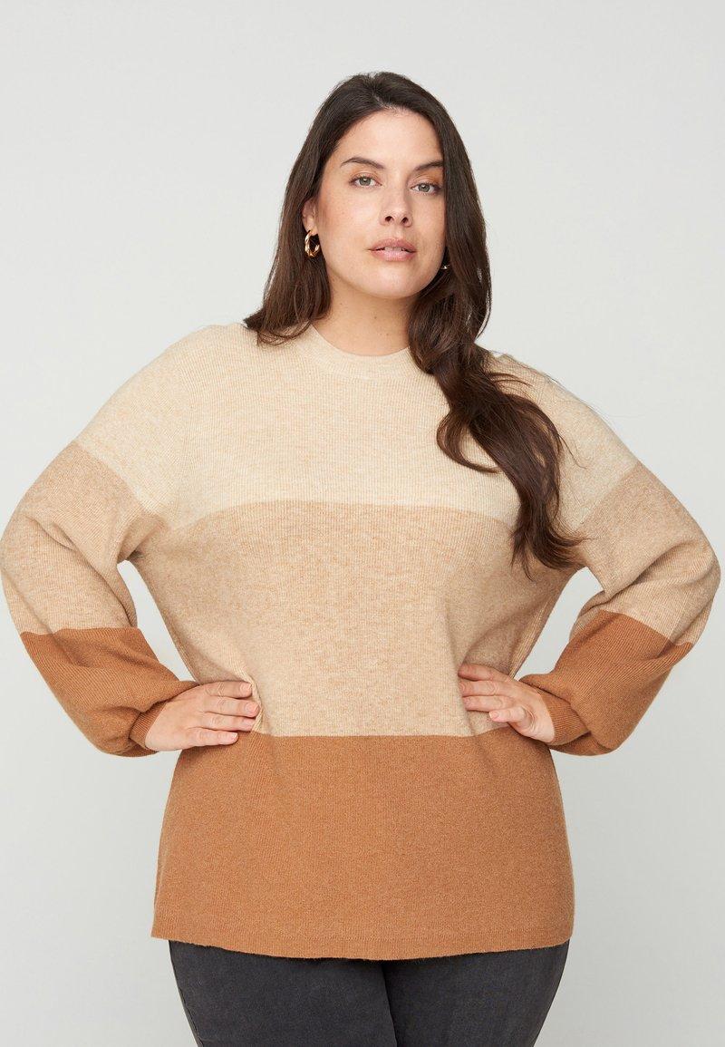 Zizzi - Sweatshirt - beige