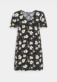 ONLY Carmakoma - BANDANA - Jersey dress - black/yellow - 6