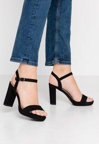 New Look - QUEEN - Sandály na vysokém podpatku - black - 0