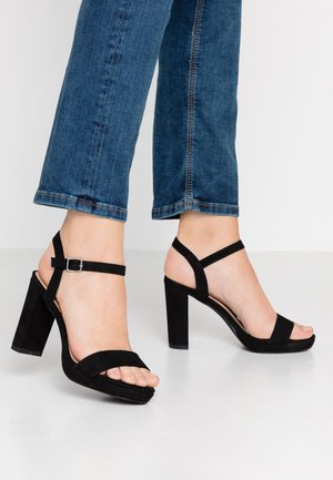 QUEEN - Sandaler med høye hæler - black