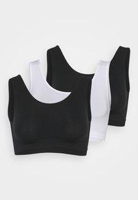 SANTONI 3 PACK - Bustier - white/black