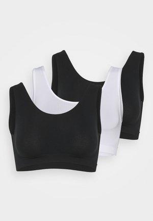 SANTONI 3 PACK - Top - white/black