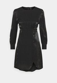 YAS Petite - SHINE SHORT DRESS PETITE - Vestido de cóctel - black - 0
