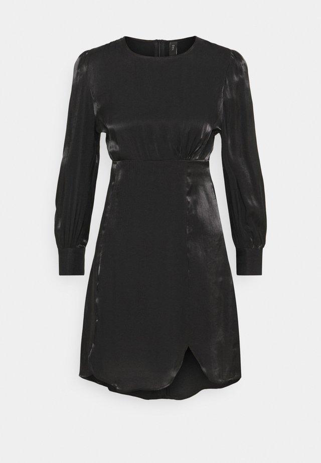SHINE SHORT DRESS PETITE - Juhlamekko - black