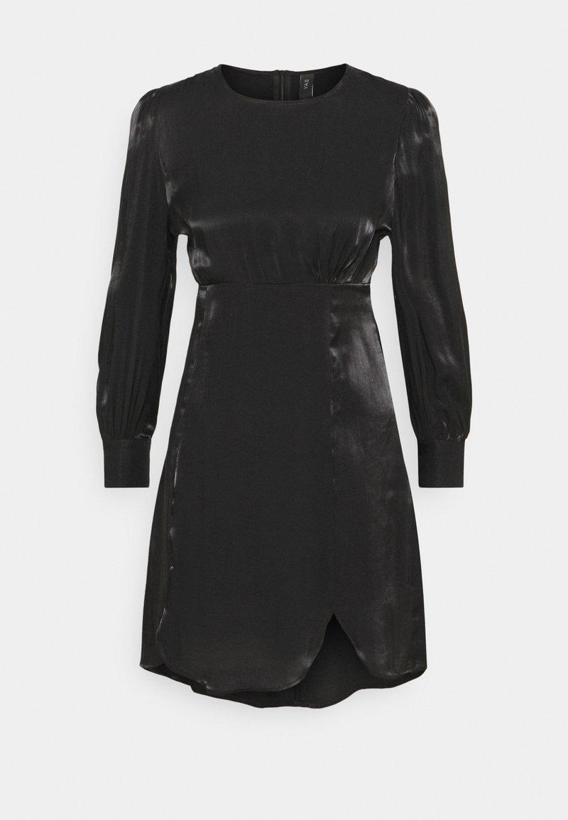 YAS Petite - SHINE SHORT DRESS PETITE - Vestido de cóctel - black