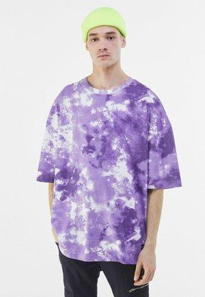T-shirt con stampa - mauve