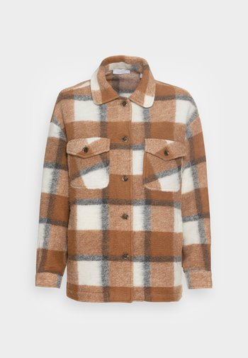 JACKET CHECKED - Light jacket - chocolate brown