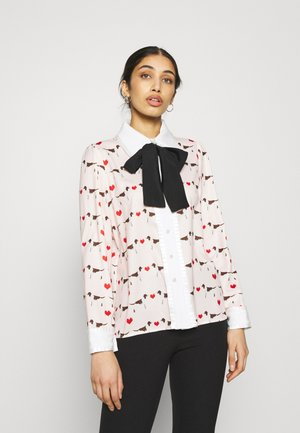 PUPPY LOVE BOW SHIRT - Button-down blouse - pink