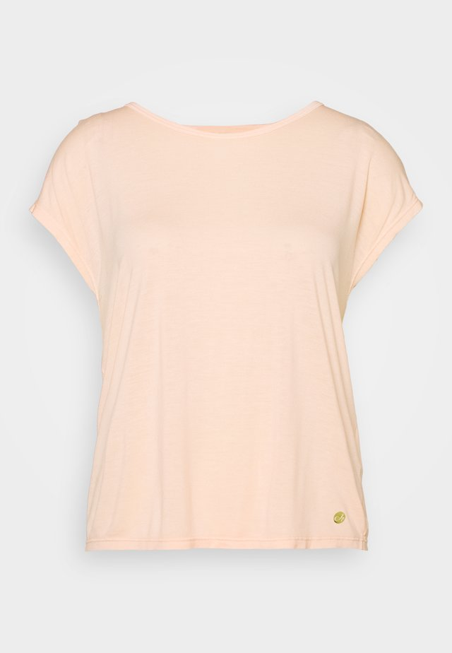 YOGA - T-shirt print - peach rose